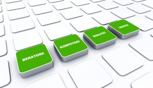 Quader Konzept Grün - Beratung Kompetenz Qualität Service 2